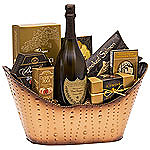 Golden Celebration Champagne Gift Basket