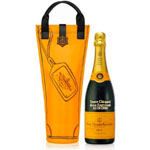 CUSTOM ENGRAVED VEUVE CLICQUOT POSARDIN BRUT NV - YELLOW LABEL WITH SHOPPING GIFT BAG