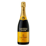 CUSTOM ENGRAVED VEUVE CLICQUOT POSARDIN BRUT NV - YELLOW LABEL