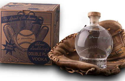 COOPERSTOWN DOUBLEDAY'S BASEBALL DOUBLE PLAY VODKA