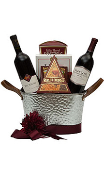 A MATTER OF TASTE WINE GIFT BASKET