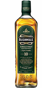 BUSHMILLS 10 YEAR OLD SINGLE MALT IRISH WHISKEY
