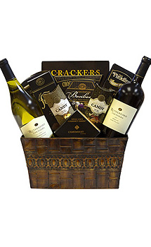 DELUXE DUO WINE GIFT BASKET