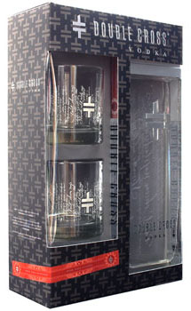 DOUBLE CROSS VODKA GIFT SET WITH GL