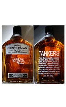 GENTLEMAN JACK RARE TENNESSEE WHISKEY CUSTOM ENGRAVED TANKER