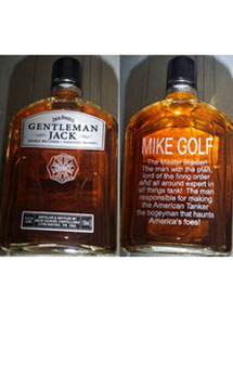 GENTLEMAN JACK RARE TENNESSEE WHISKEY CUSTOM ENGRAVED MASTER GUNNER