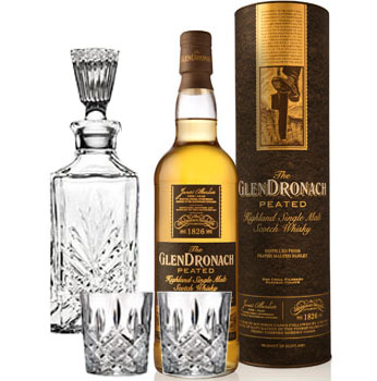 GLENDRONACH SCOTCH SINGLE MALT PEATED COLLABORATION GIFT SET
