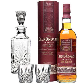 GLENDRONACH SCOTCH SINGLE MALT 12 YEAR ORIGINAL COLLABORATION GIFT SET