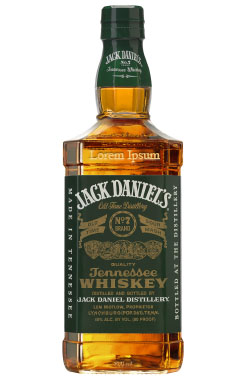 JACK DANIEL'S WHISKEY GREEN LABEL - CUSTOM ENGRAVED
