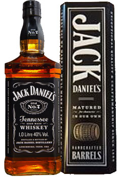 JACK DANIEL'S TENNESSEE WHISKEY IN A METAL TIN GIFT BOX