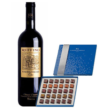 LA MAISON DU CHOCOLAT LIGHT AS AIR COLLECTION WITH RUFINNO CHIANTI CLASSICO