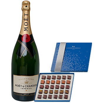 LA MAISON DU CHOCOLAT LIGHT AS AIR COLLECTION WITH MOET & CHANDON CHAMPAGNE
