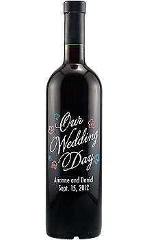 Engraved Wine Bottles For Wedding Gift : Home / wine gifts / wine gifts / OUR WEDDING DAY