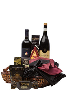 A WINE COLLECTION GIFT BASKET