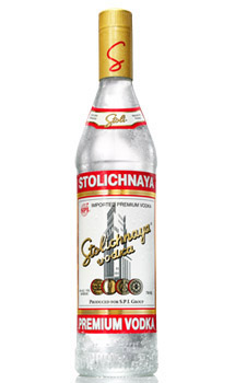 STOLICHNAYA PREMIUM VODKA - 80 PROOF