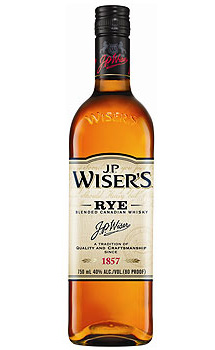 J.P. Wiser's Rye Whisky, traditional Irish Whisky