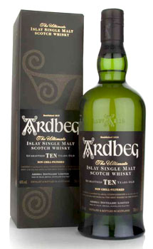 ARDBEG 10 YEARS OLD SINGLE MALT - 750ML