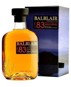 BALBLAIR SCOTCH SINGLE MALT 1983 -