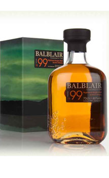 BALBLAIR SCOTCH SINGLE MALT 1999