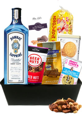 BOMBAY BAR MIX GIFT BASKET