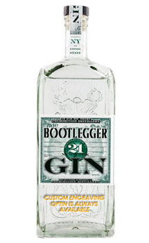 BOOTLEGGER 21 GIN - CUSTOM ENGRAVED