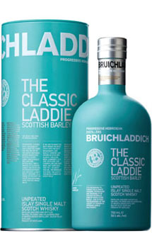 BRUICHLADDICH SCOTCH SINGLE MALT-THE LADDLE SCOTTISH BARLEY - 750ML