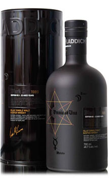 BRUICHLADDICH SCOTCH SINGLE MALT-BLACK ART 7 25 YEAR - 750ML