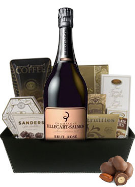 BILLECART SALMON ROSE GIFT BASKET