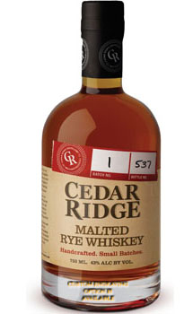 CEDAR RIDGE MALTED RYE WHISKEY - CU