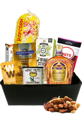 THE CROWN ROYAL GIFT BASKET