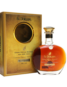 EL DORADO RUM GRAND SPECIAL RESERVE 50 YEAR OLD