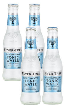 TONIC WATER - FEVER TREE MEDITERRANEAN TONIC WATER - 4 PACK