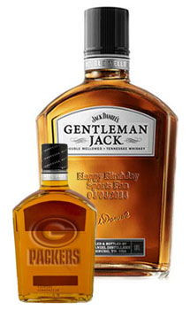 GREEN BAY PACKERS CUSTOM ENGRAVED GENTLEMAN JACK RARE TENNESSEE WHISKEY