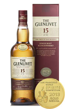THE GLENLIVET 15 YEAR OLD SINGLE MALT - 750ML