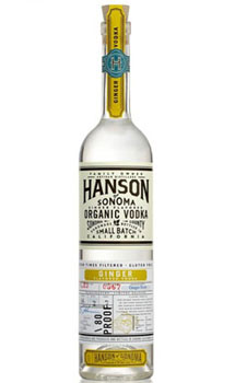 HANSON OF SONOMA VODKA ORGANIC GING