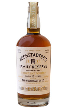 HOCHSTADTER'S RYE WHISKEY 16 YEAR OLD FAMILY RESERVE