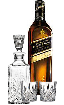 JOHNNIE WALKER SCOTCH DOUBLE BLACK - 750ML COLLABORATION GIFT SET