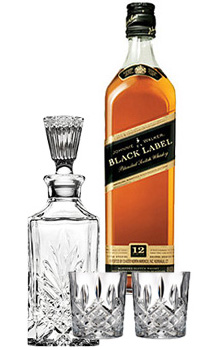 JOHNNIE WALKER SCOTCH BLACK LABEL - 750ML COLLABORATION GIFT SET