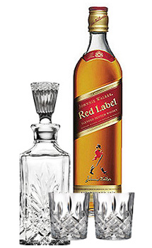 JOHNNIE WALKER SCOTCH RED LABEL - 750ML COLLABORATION GIFT SET