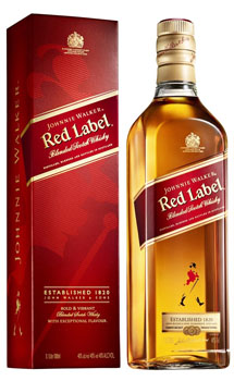 JOHNNIE WALKER SCOTCH RED LABEL - 750ML