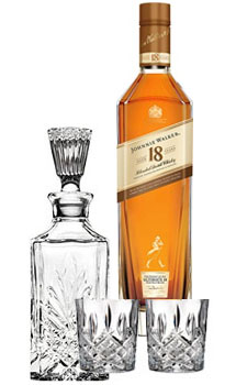JOHNNIE WALKER SCOTCH ULTIMATE 18 YEAR OLD - 750ML COLLABORATION GIFT SET