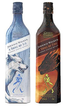 JOHNNIE WALKER GAME OF THRONE A SONG OF ICE & A SONG OF FIRE