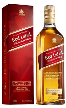 JOHNNIE WALKER RED LABEL SCOTCH WHISKY - CUSTOM ENGRAVED