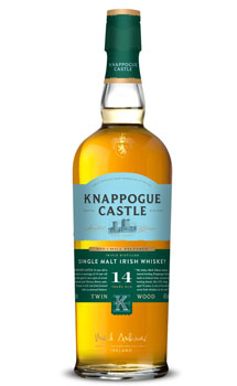 KNAPPOGUE CASTLE IRISH WHISKY SINGLE MALT 14 YEAR TWIN WOOD