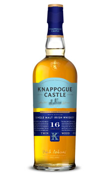 KNAPPOGUE CASTLE IRISH WHISKY SINGLE MALT 16 YEAR TWIN WOOD