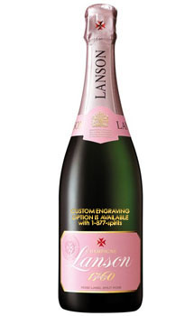 LANSON BRUT ROSE - CUSTOM ENGRAVED