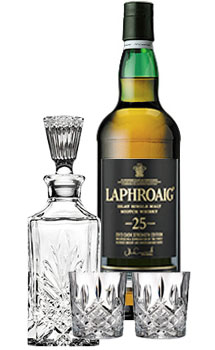 LAPHROAIG SCOTCH SINGLE MALT 25 YEAR OLD COLLABORATION GIFT SET