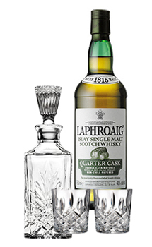 LAPHROAIG SCOTCH SINGLE MALT QUARTER CASK COLLABORATION GIFT SET
