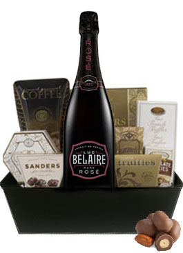 LUC BELAIRE LUXE ROSE GIFT BASKET
