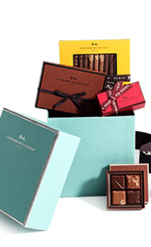 LA MAISON DU CHOCOLAT GREEN HAT BOX